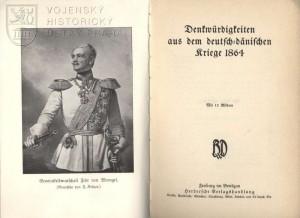 Titulní list a frontispis s portrétem pruského polního maršála svobodného pána Wrangela.