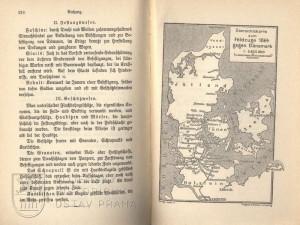 Poslední strana knihy a přehledná mapka Jutského poloostrova.