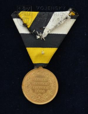 Bronzová pamětní medaile na válku prusko-dánskou 1864 – rakouská verze