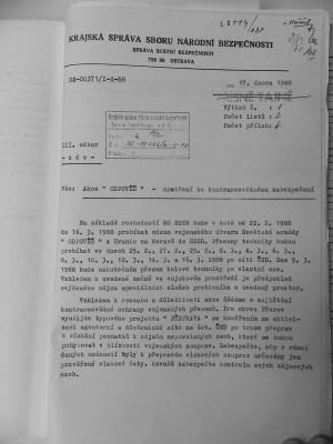 Dokument o přesunu sovětských vojsk a raketových komplexů