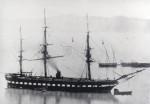 Parní fregata poháněná šroubem