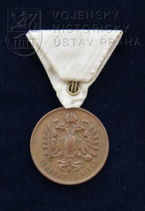 Bronzová Záslužná medaile Pražského dobrovolného sboru - první typ (do roku 1860)