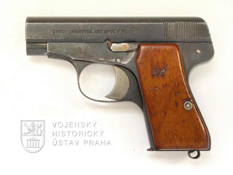 Čs. pokusná pistole ČZ 6,35 mm