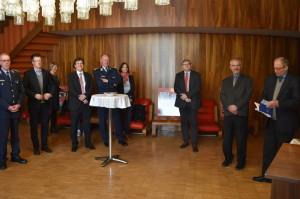 Účastníci setkání na velvyslanectví České republiky v Berlíně. Foto Prokop Tomek