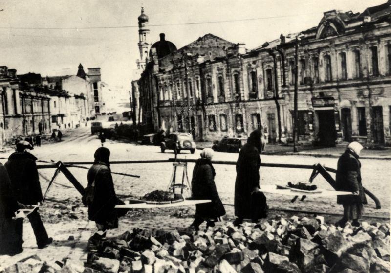 Charkov 1943, odklízení válečných škod