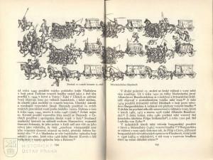 Vyobrazení spížních a válečného vozu z rukopisu Mittelalterliches Hausbuch z konce 15. století.
