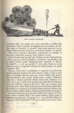Ilustrace znázorňující náklady na jeden výstřel z bombardy.