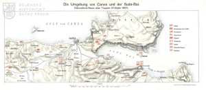 Mapka rozdělení sektorů blokádní flotily na jaře 1897.