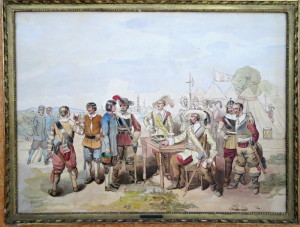 Akvarel, který vytvořil patnáctiletý arcivévoda František Josef, 1845. FOTO: VHÚ