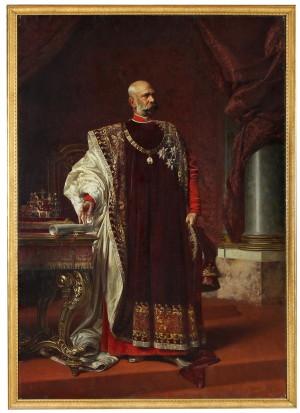 František Ženíšek: František Josef I. v ornátu Řádu Zlatého rouna, 1894
