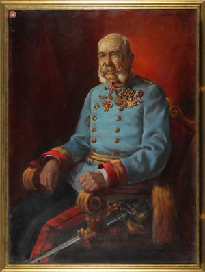 Alois Podloucký: František Josef I. ve služebním stejnokroji rakousko-uherského polního maršála, 1916