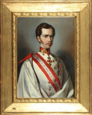 František Josef I. ve slavnostním stejnokroji rakouského polního maršála, kolem 1850. FOTO: VHÚ