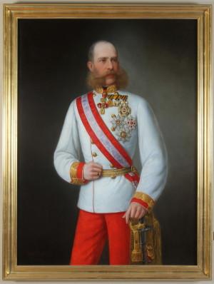Hans Skallitzky, František Josef I. ve slavnostním stejnokroji rakousko-uherského polního maršála, 1879. FOTO: VHÚ