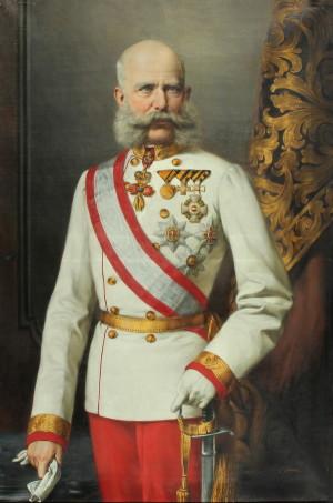 Hermann Nigg, František Josef I. ve slavnostním stejnokroji rakousko-uherského polního maršála, 1890. FOTO: VHÚ