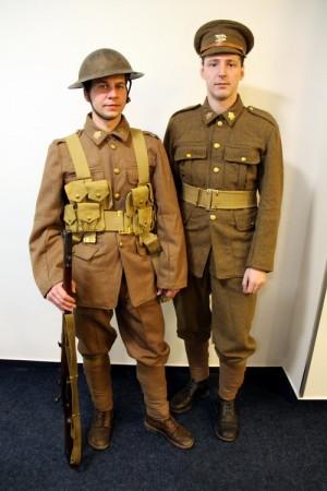 Britské stejnokroje z první světové války