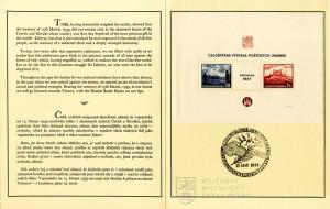 Nálepní list k 2. výročí okupace Čech a Moravy