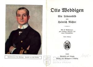 Titulní list a frontispis s Weddigenovým portrétem od Fritze Reusinga.