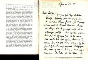 Vevázaná faksimile dopisu Otto Weddigena rodině z 5. února 1915.