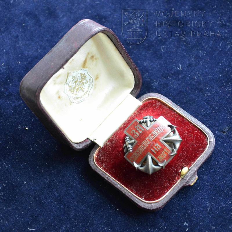 Stříbrný odznak Společnosti pro pomoc při námořních neštěstích za záchranu na moři