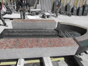 Pomník pro Samaru, zhotovený v roce 2011 podle návrhu architekta G. I. Běljankina, připravený k instalaci  (Foto Pavel Filipek)
