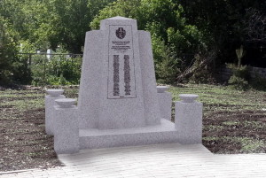 Vizualizace pomníku v Bugulmě podle návrhu architekta Lukáše Hudáka (MO ČR – Odbor pro válečné veterány)