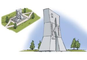Návrh pomníku do stanice Lipjagi od akademického malíře Pavla Holého z VHÚ (VHÚ)