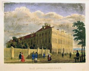 Invalidovna v Praze, kolem 1850