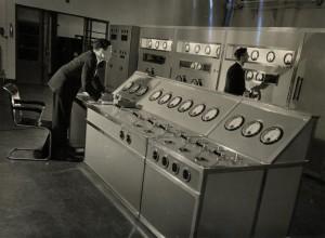Kontrolní stanoviště rozhlasového vysílání BBC, Londýn 28. ledna 1943