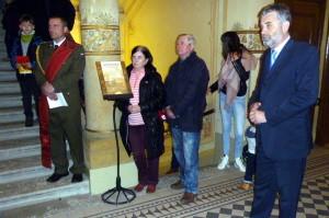 Z vernisáže výstavy - vpravo starosta Chrudimi Petr Řezníček