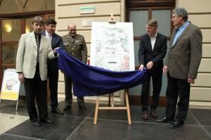 Slavnostní prezentace aršíku se známkou k 75. výročí operace Anthropoid