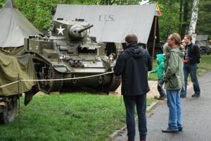 Americký lehký tank M3 Stuart byl novinkou letošních Slavností svobody v Plzni.