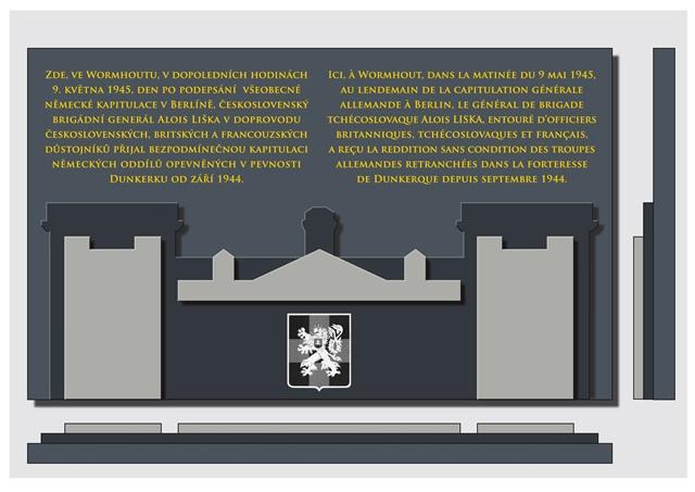 Novou pamětní desku navrhl akademický malíř Pavel Holý z Vojenského historického ústavu Praha. Foto Jindřich Plescher