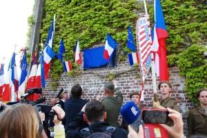 Slavnostní odhalení nové pamětní desky ve Wormhoutu Foto Jindřich Plescher