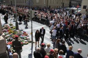 Pietní akt v pražské Resslově ulici 18. června 2017