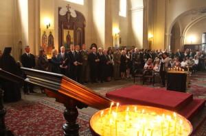 Bohoslužba v chrámu svatého Cyrila a Metoděje