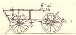 Proviantní vůz vzor 1888.  FOTO: Fuhrwerke des k. u. k . Heeres