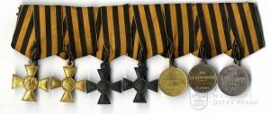 Ruská vyznamenání legionáře Karla Vašátka