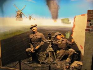 Obsluha minometu během bojů v Nizozemsku. FOTO: Ivo Pejčoch