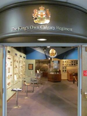 Vstup do jedné z galerií s dějinami pluku z Calgary. FOTO: Ivo Pejčoch