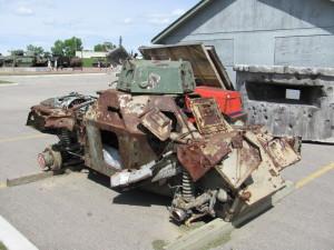 Vrak obrněného automobilu, připravený k restaurování. FOTO: Ivo Pejčoch