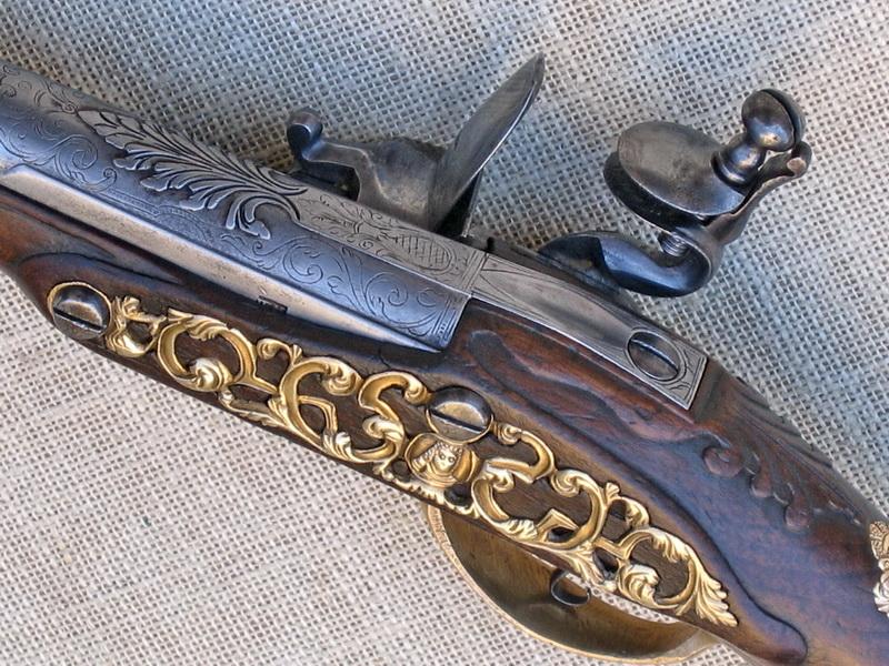 Restaurování pistole s křesadlovým zámkem