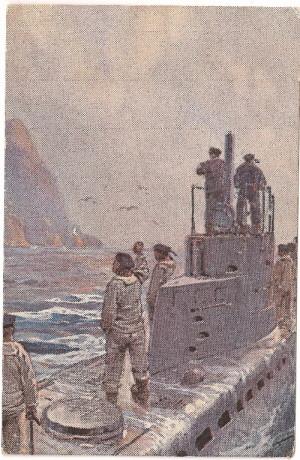 Romantický pohled výtvarníka na službu na ponorce U-4
