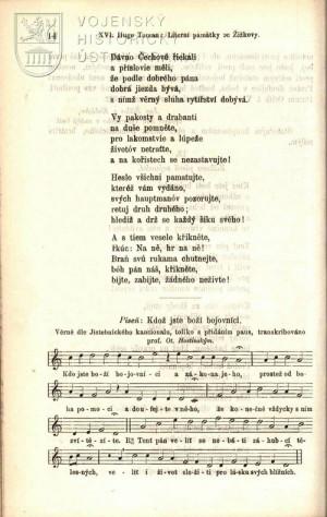 Notový zápis písně Kdož jsu boží bojovníci.