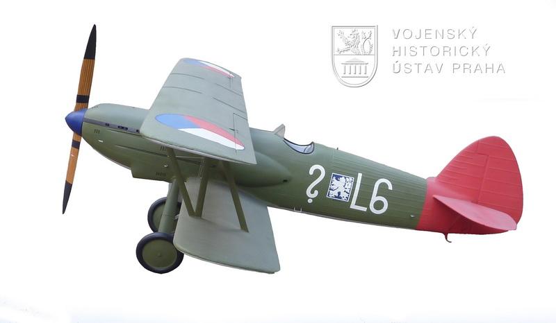 Model československého stíhacího letounu AVIA B. 534/3