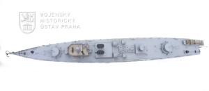 Model československé hlídkové lodi Prezident Masaryk