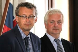 Autoři: Prokop Tomek a Ivo Pejčoch (vlevo)