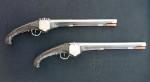 Pár pistolí s vodotěsnými kolečkovými zámky, Lafontaine, Monacké knížectví, 1642