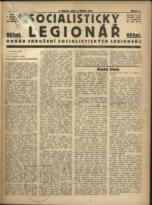 Poslední známé číslo Socialistického legionáře.