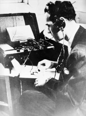 Radiotelegrafista Jaroslav Klemeš. Foto sbírka VHÚ.