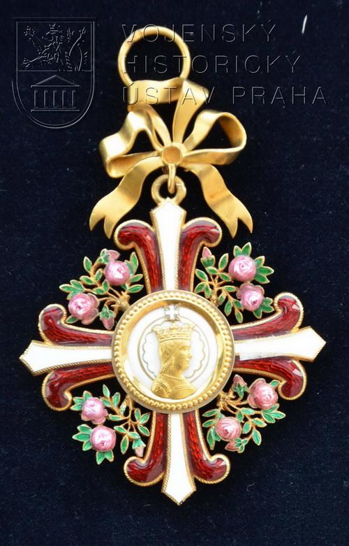 Rakouský císařský řád Alžběty I. třídy – klenot náprsní dekorace